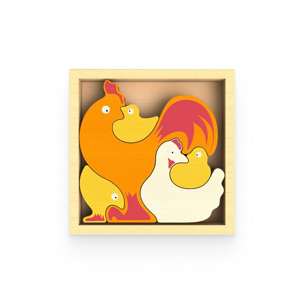 Chicken Family Puzzle https://glammepet.com