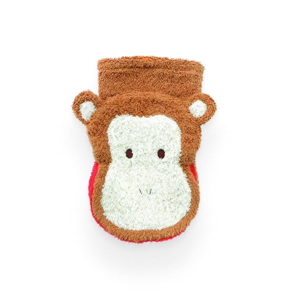 Organic Cotton Monkey Washcloth https://glammepet.com