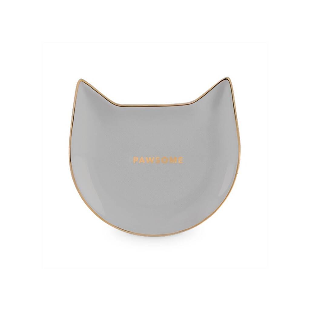 Pawsome Gray Ceramic Tea Tray https://glammepet.com