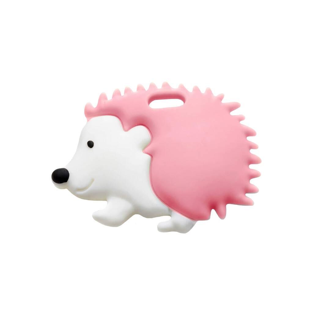 Pink Hedgehog Teether https://glammepet.com