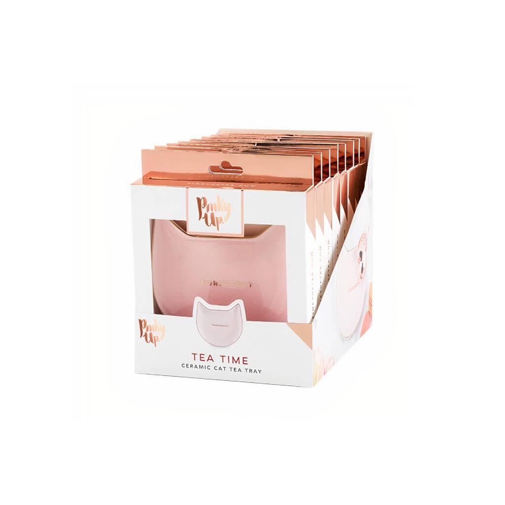 Purrrfect: Pink Cat Tea Tray https://glammepet.com