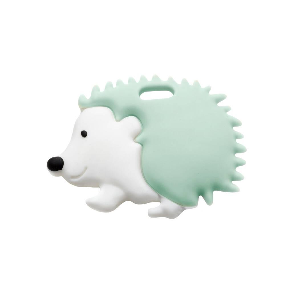 Soft Mint Hedgehog Teether https://glammepet.com