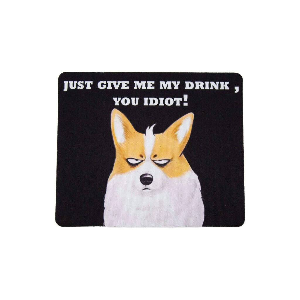 Cool Drinking Corgi Mouse Pad https://glammepet.com