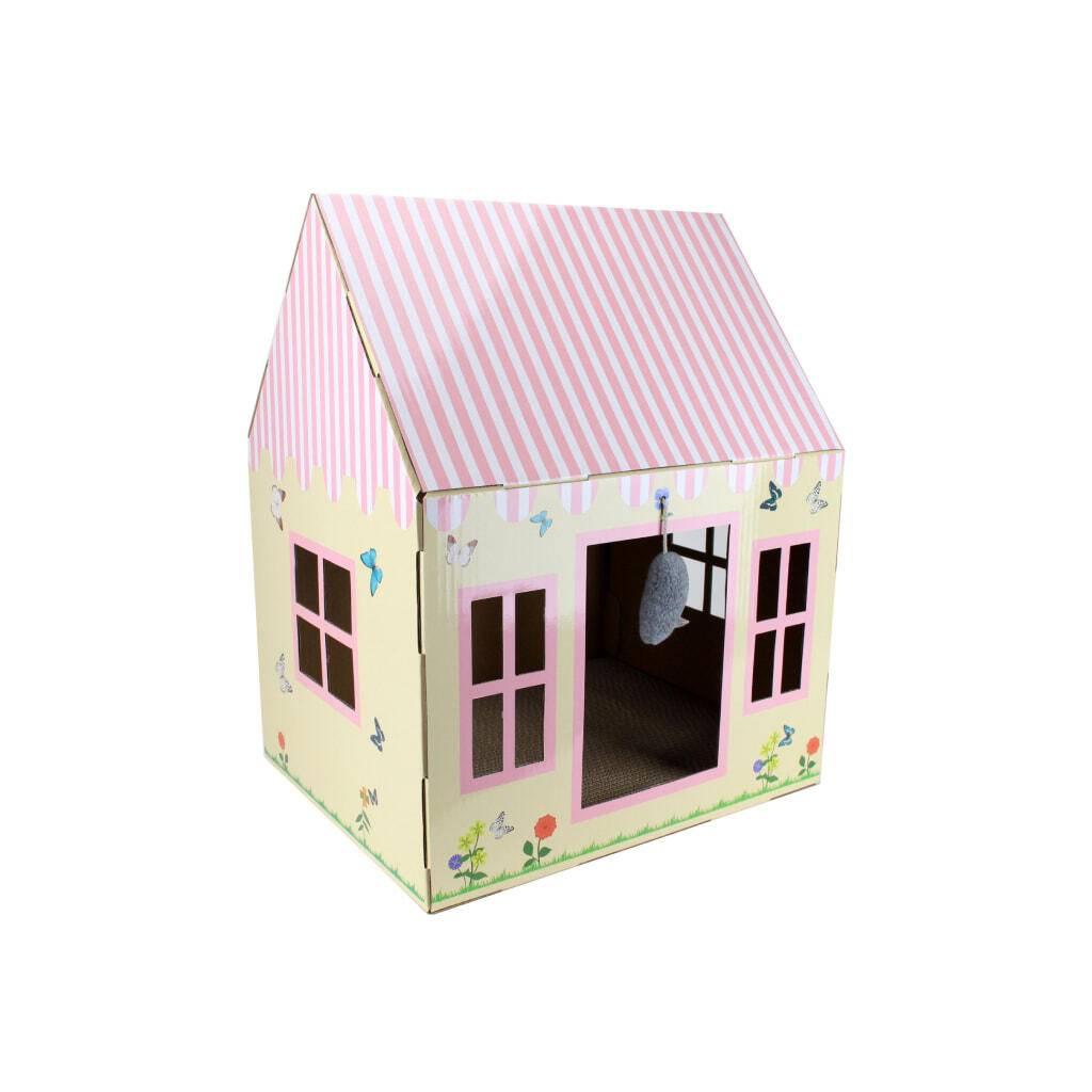 Cottage Cat Scratcher House https://glammepet.com