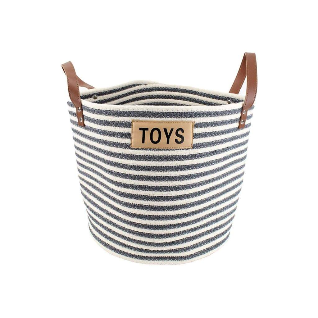 Cotton Rope Pet Toy Storage Basket https://glammepet.com