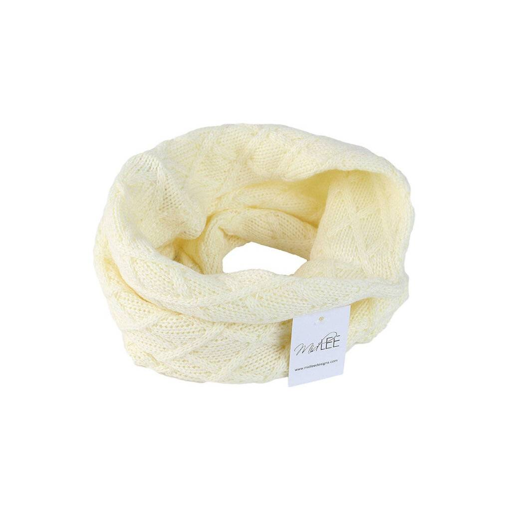 Cream Knit Infinity Scarf for Dogs https://glammepet.com