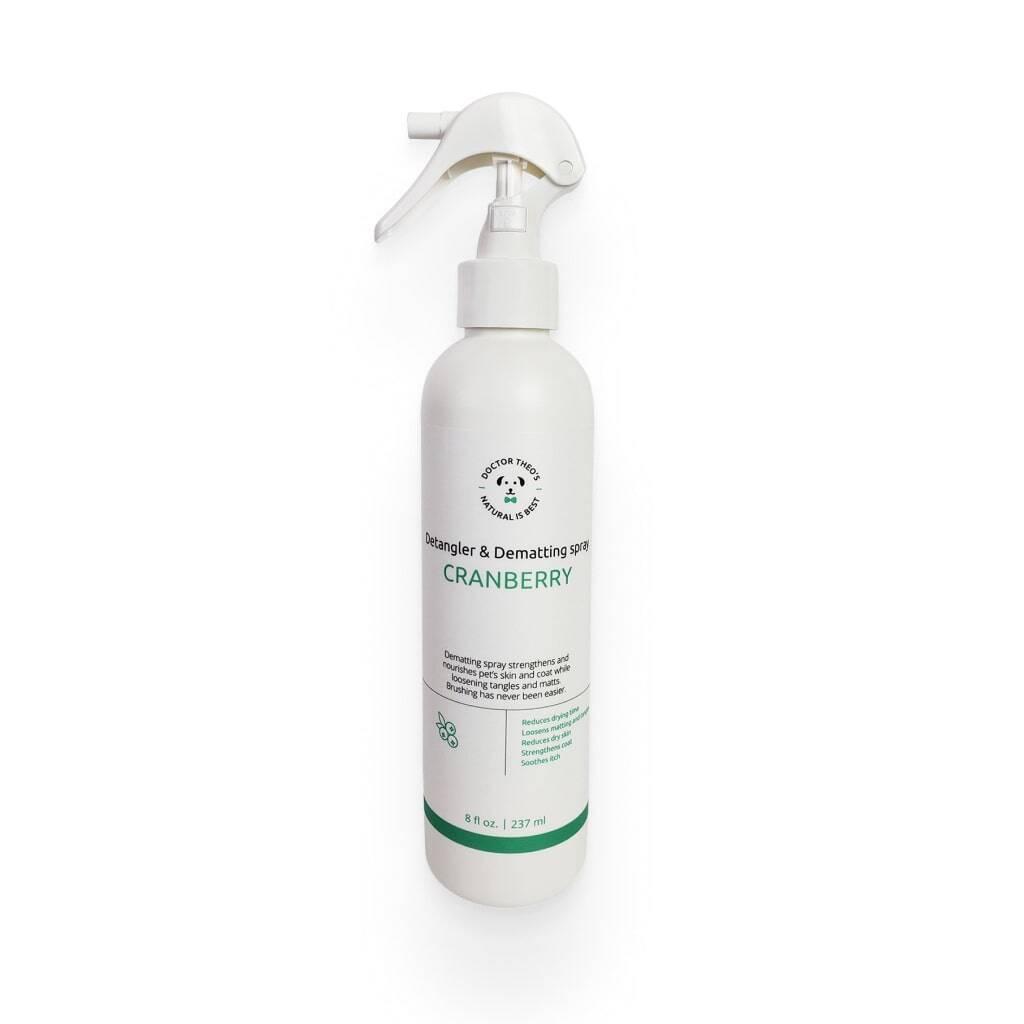 Dog Cranberry Detangler & Dematting Spray https://glammepet.com