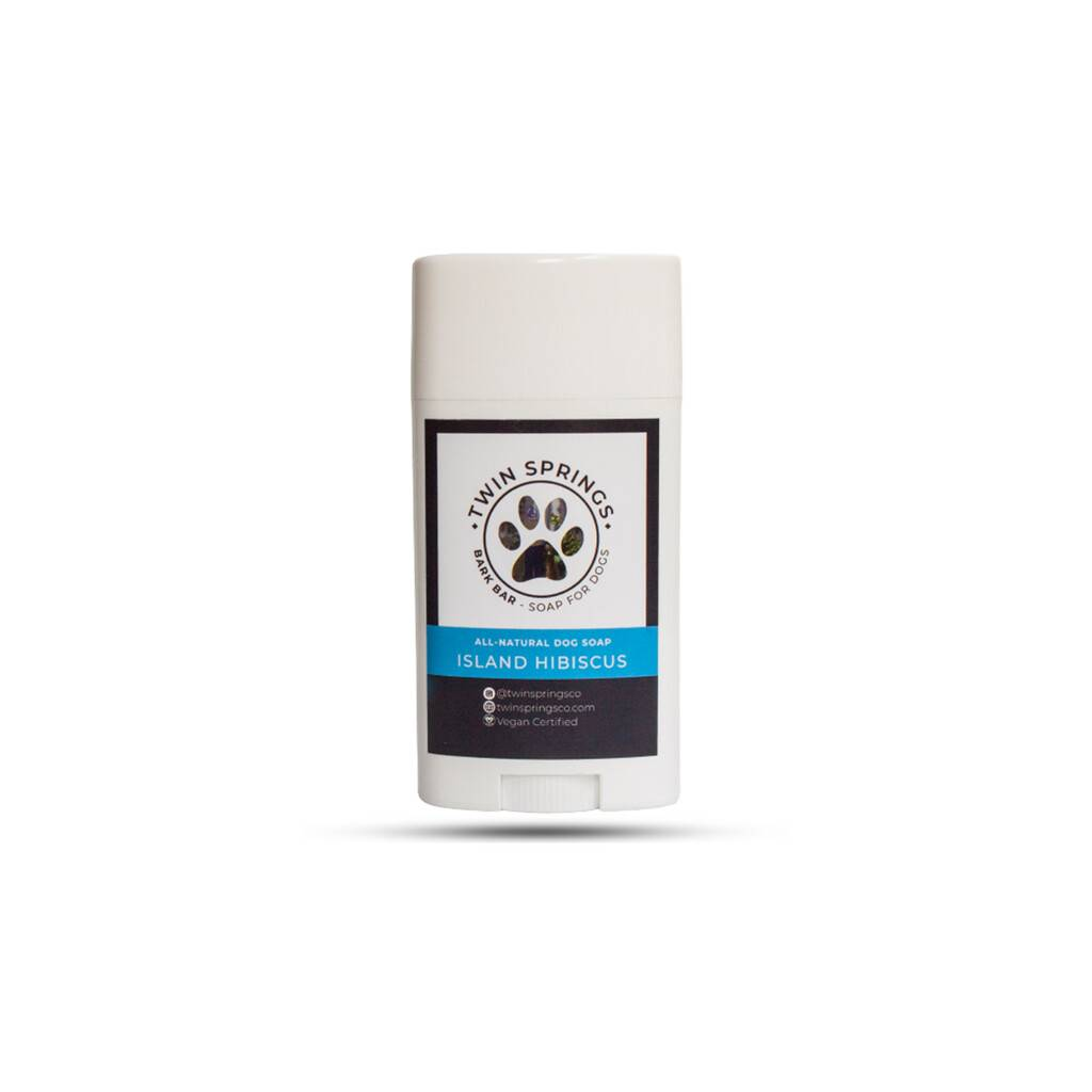 Island Hibiscus Bark Bar Dog Soap https://glammepet.com