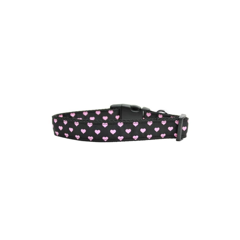 Pink and Black Dotty Hearts Collar https://glammepet.com