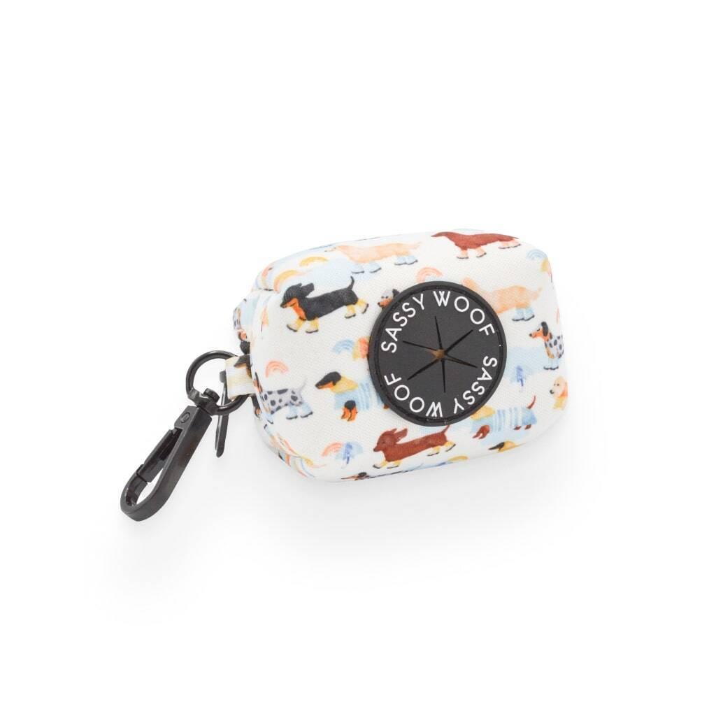 Rainy Dachshund' Dog Waste Bag Holder https://glammepet.com