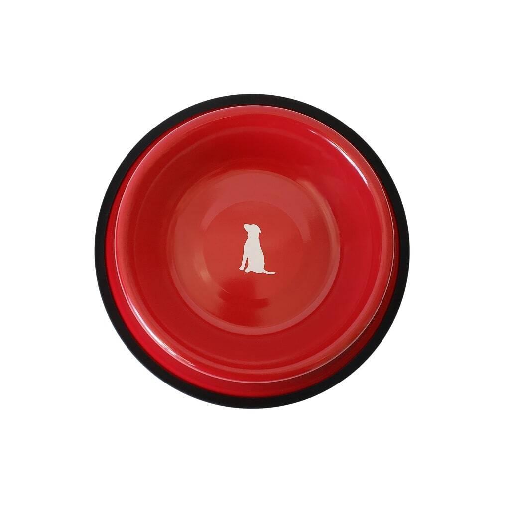 Red Non Skid Dog Bowl https://glammepet.com