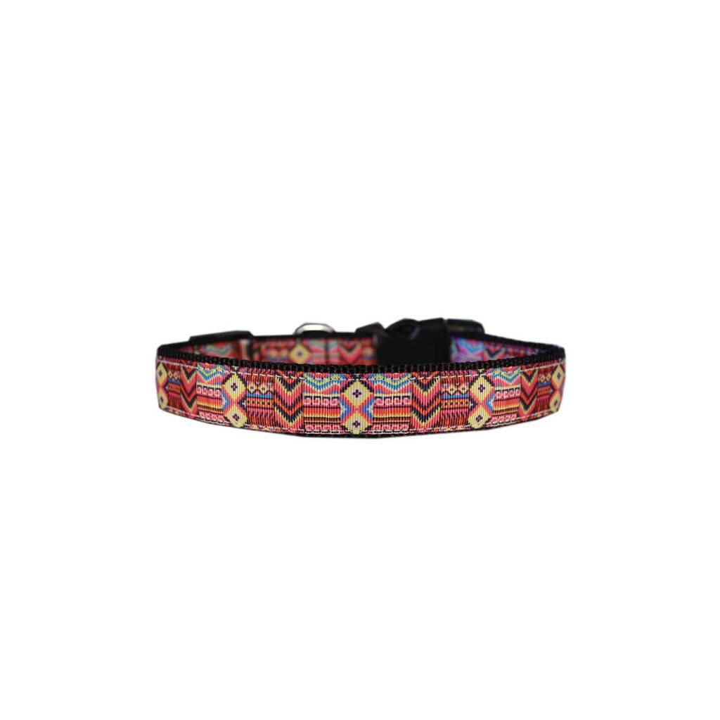 Southwestern Wonder Nylon Ribbon Collar https://glammepet.com