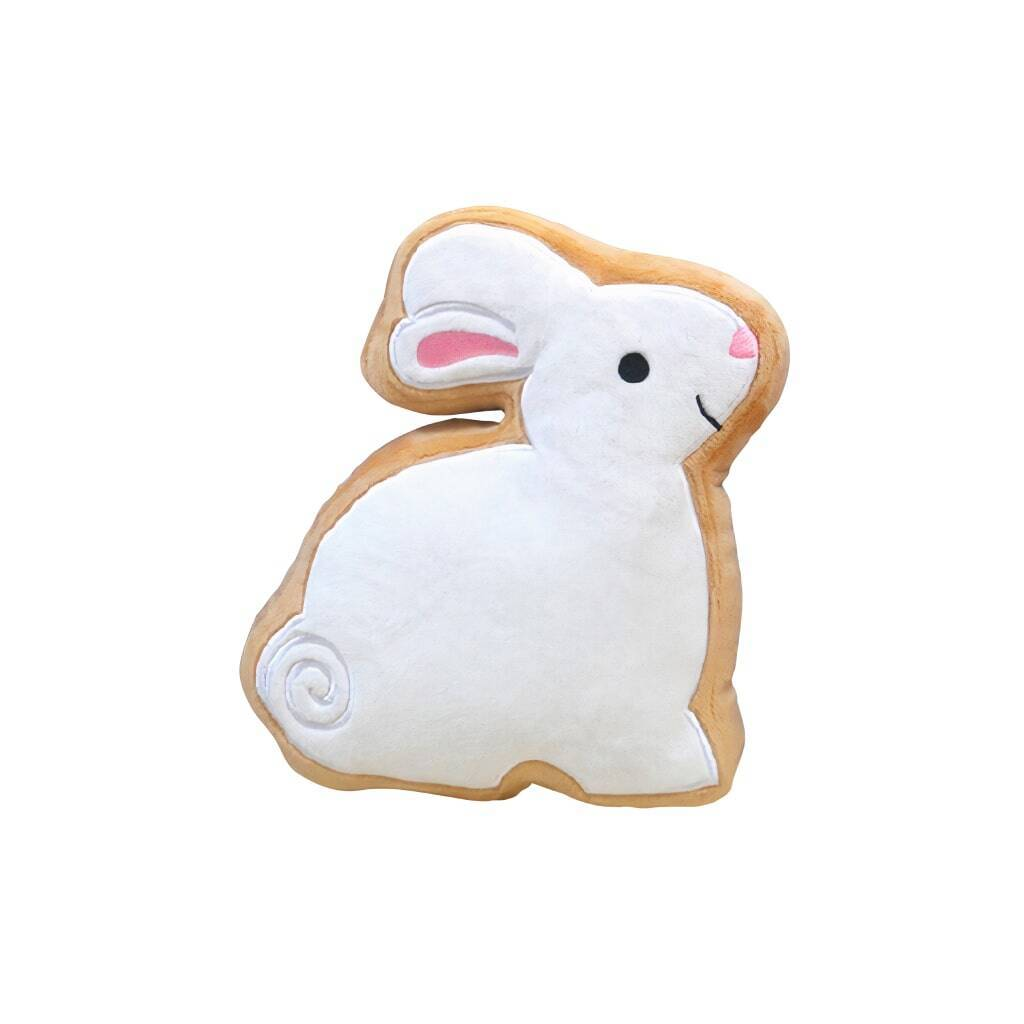 White Bunny Sugar Cookie Dog Toy https://glammepet.com