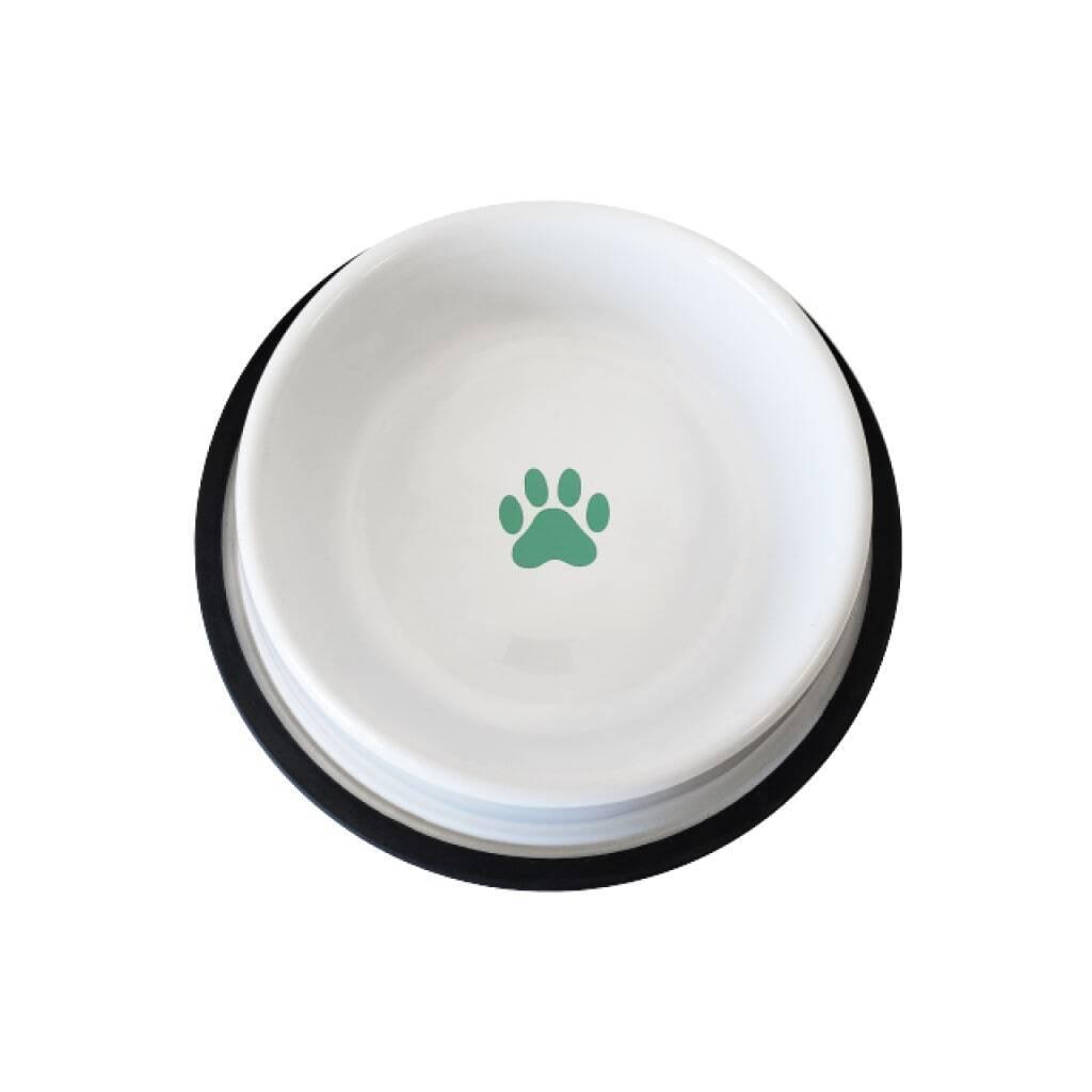 White Non Skid Dog Bowl https://glammepet.com
