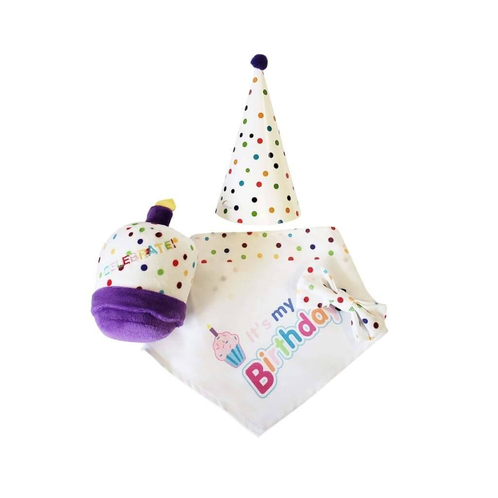 4-Piece Dog Birthday Kit https://glammepet.com