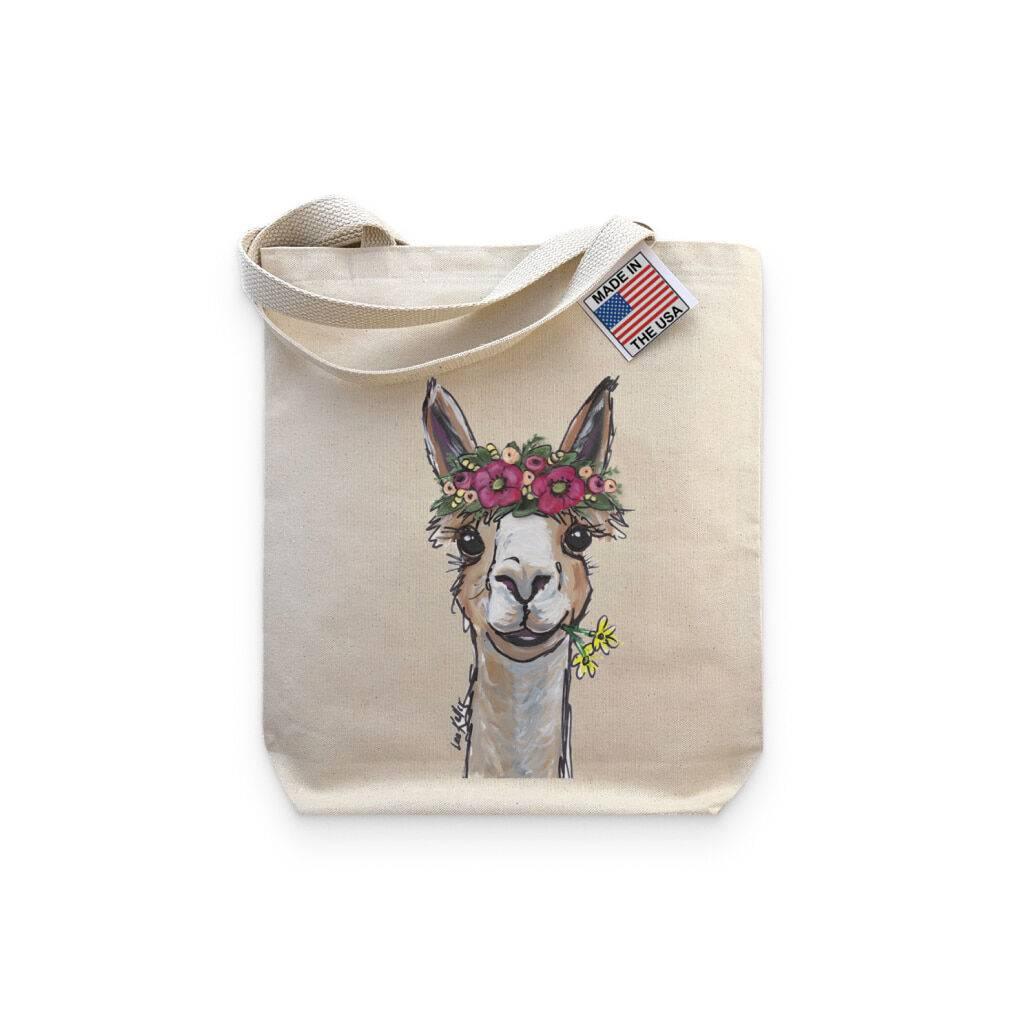 Alpaca Lover Tote Bag https://glammepet.com