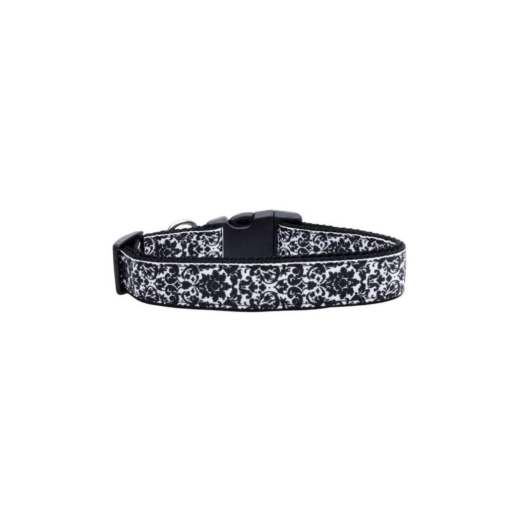 Black and White Nylon Ribbon Collar https://glammepet.com
