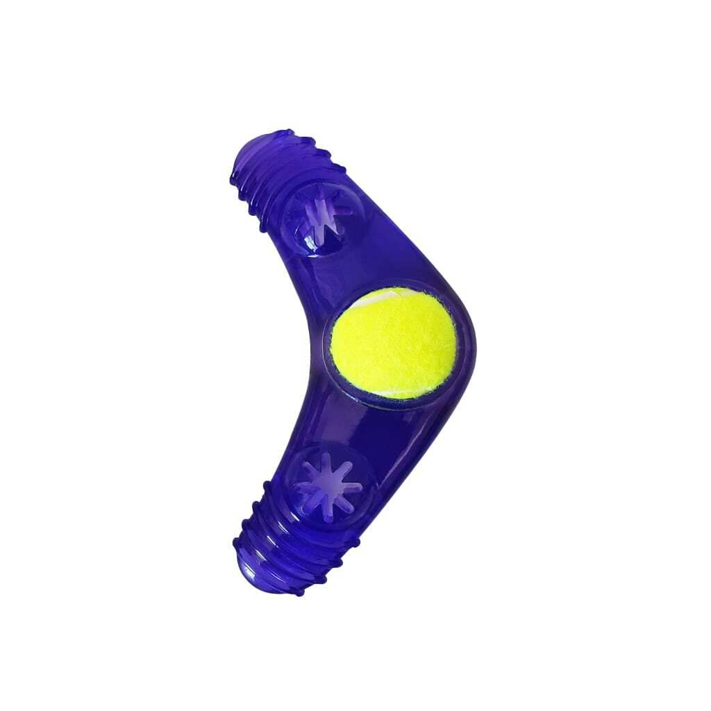 Boomerang Squeaker Toy With Treat Fill https://glammepet.com