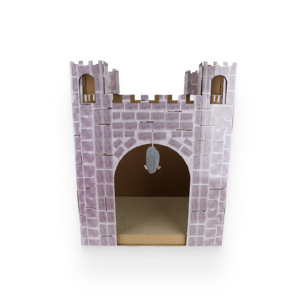 Castle Cat Scratcher House https://glammepet.com