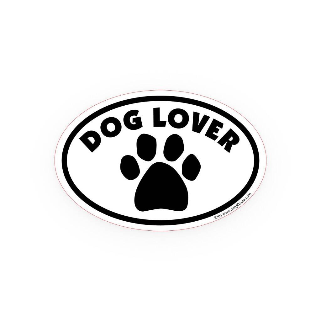 Dog Lover Oval Car Magnet https://glammepet.com