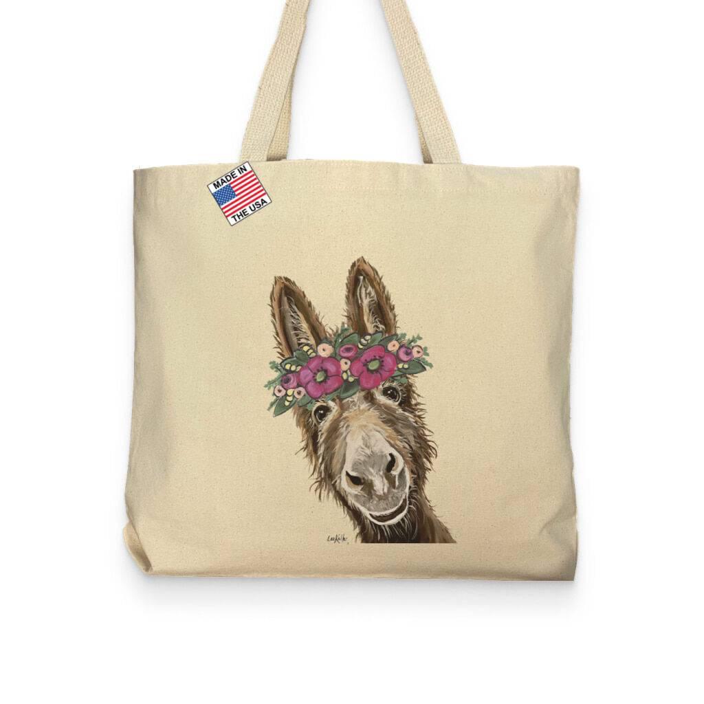 Donkey Lover Pocket Tote Bag https://glammepet.com