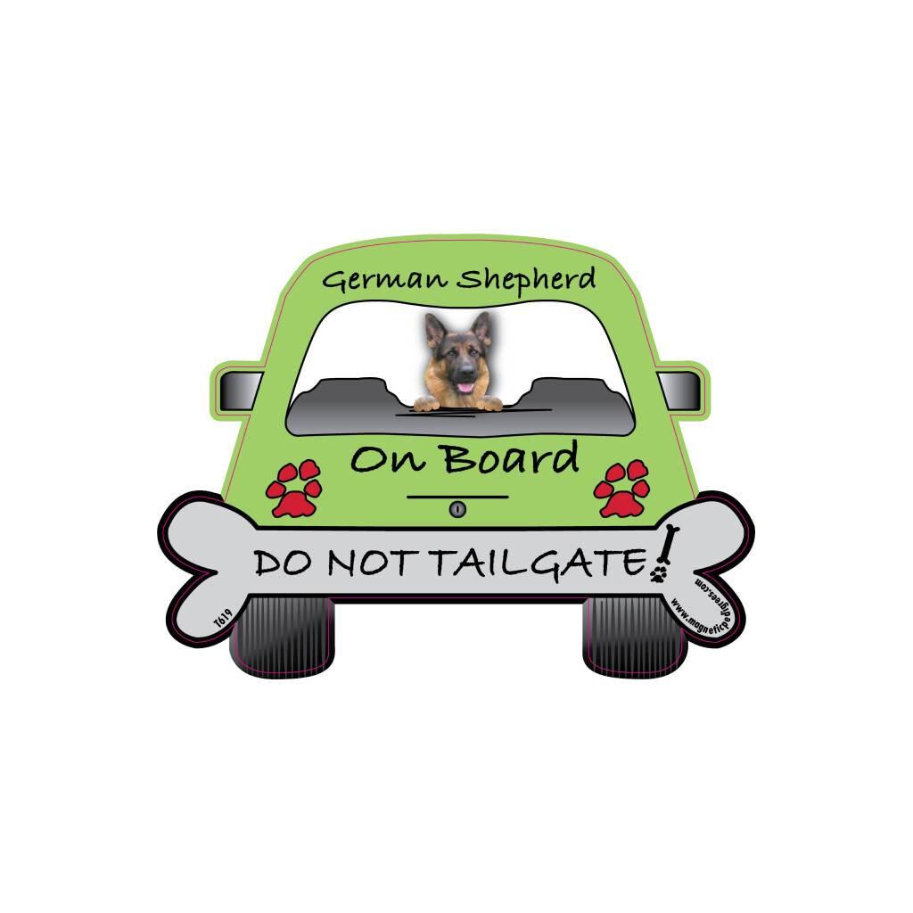 German Shepherd On Board Car Magnet https://glammepet.com