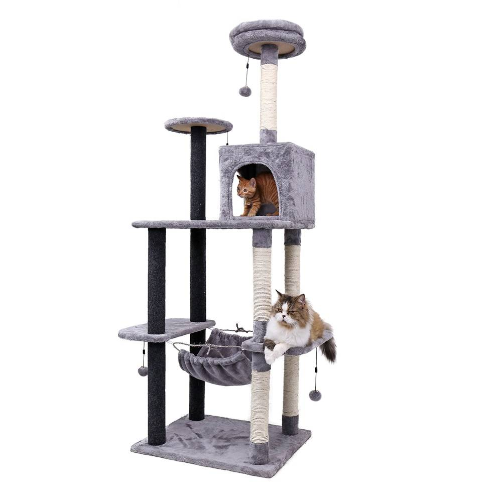 Cat House with Hanging Ball https://glammepet.com