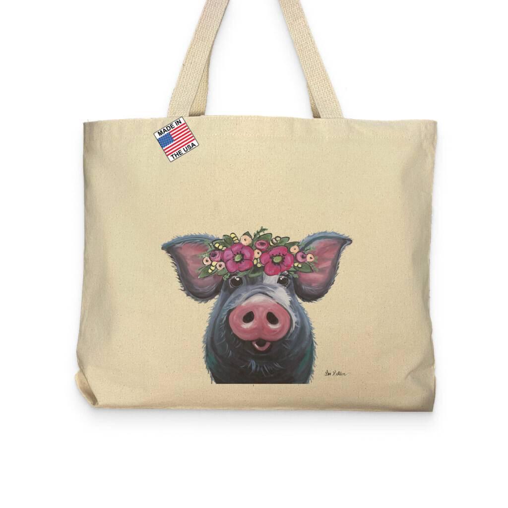 Pig Lover Pocket Tote Bag https://glammepet.com
