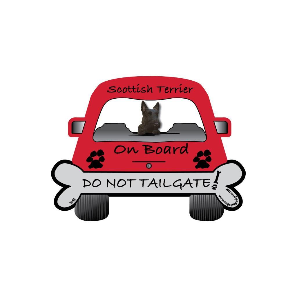 Scottish Terrier On Board Magnet https://glammepet.com