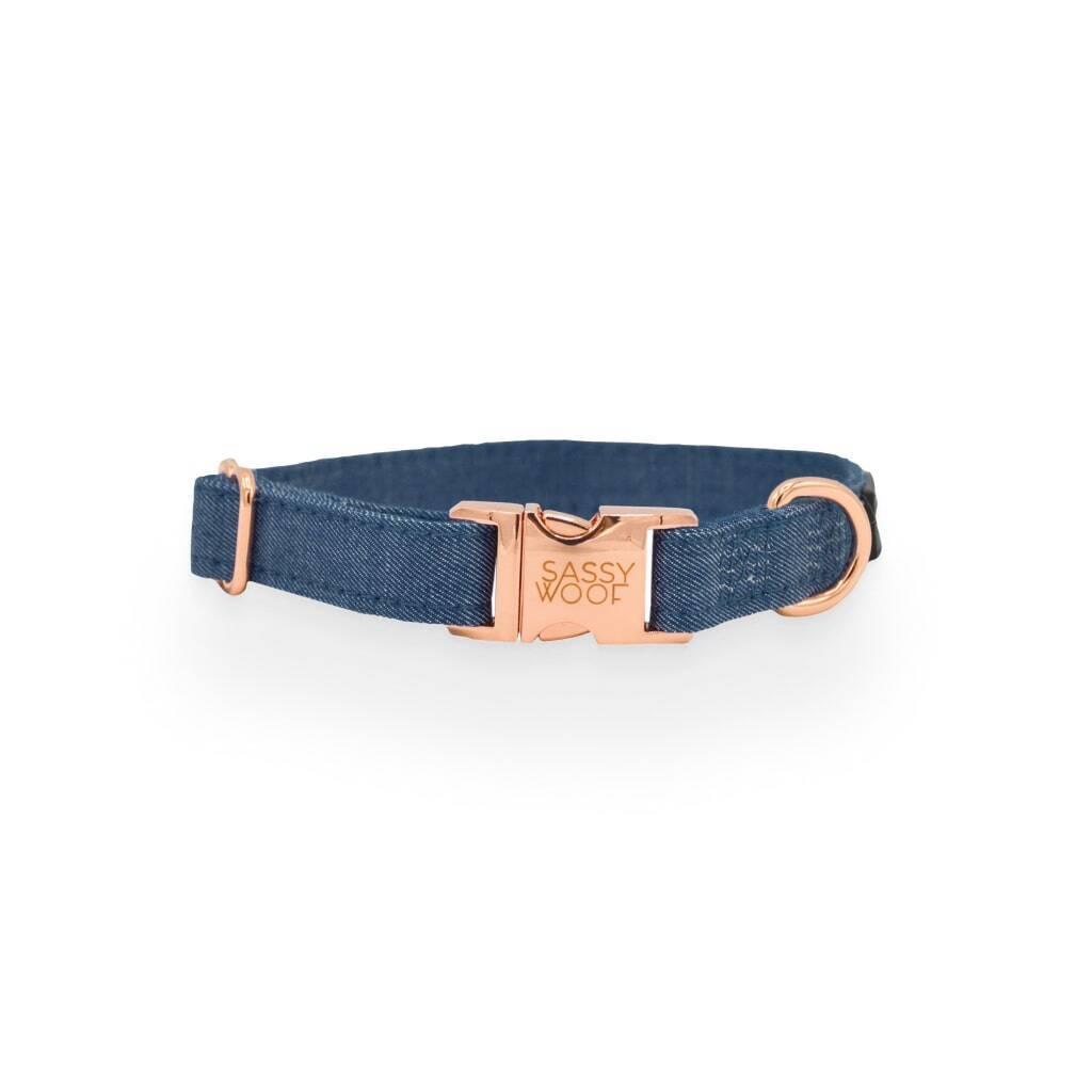 Denim' Dog Collar https://glammepet.com