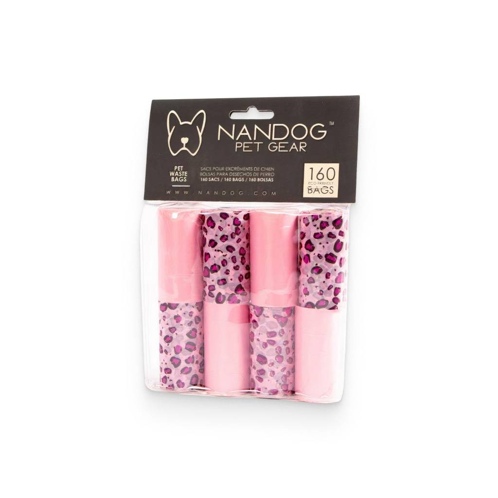 Pink Leopard Poop Bags https://glammepet.com