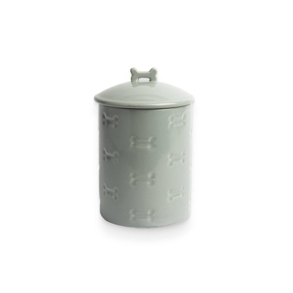 Manor Grey Treat Jar https://glammepet.com