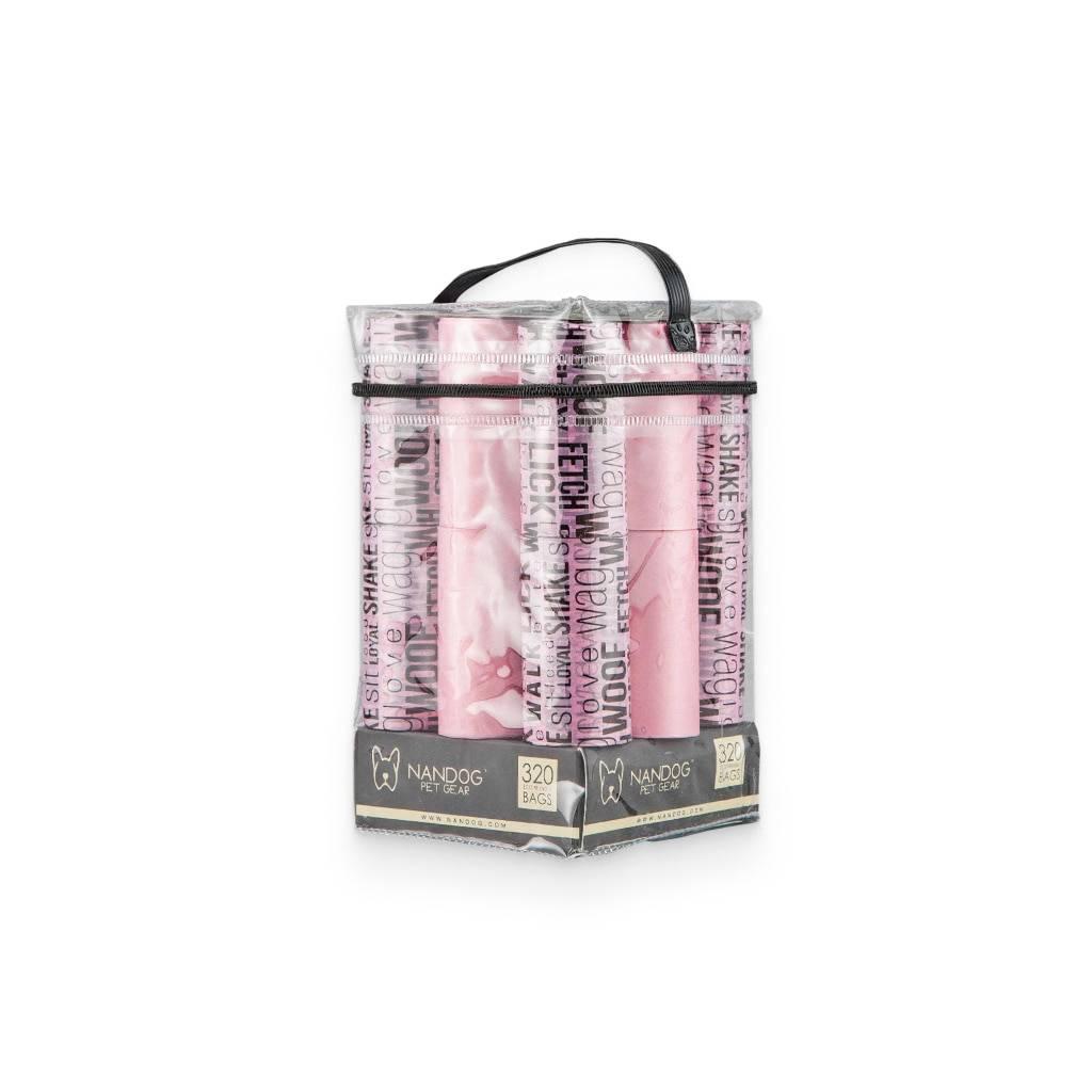Pink Words Nandog Poop Bag (16-Pack) https://glammepet.com